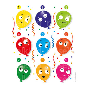 Ballons Karneval Party
