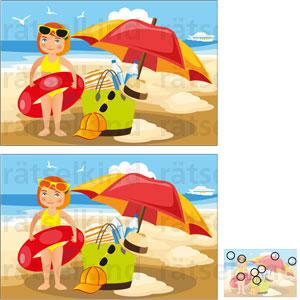 Vergleichsrätsel Strand Meer