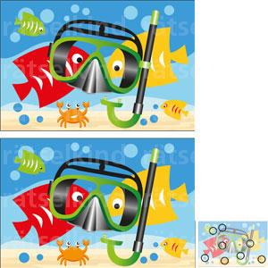 Vergleichsrätsel Fische