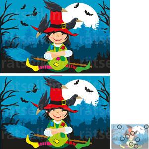 Vergleichsrätsel Halloween