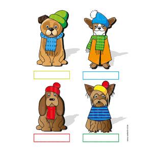 Hunde in Winterkleidung
