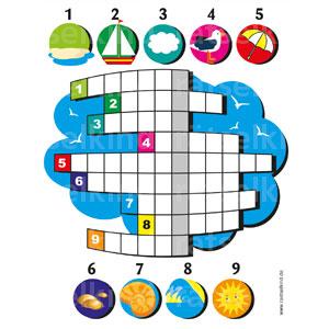 Trage die Begriffe in das Rätsel ein, dann findestdu das Lösungswort in den freien, gelben Feldern.