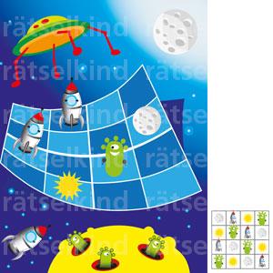 Kannst du dieses Sudoku so ausfüllen, dass jedes der vier abgebildeten Symbole, in einer Zeile, in einer Spalte und in einem Viererquadrat nur 1 Mal vorkommt?