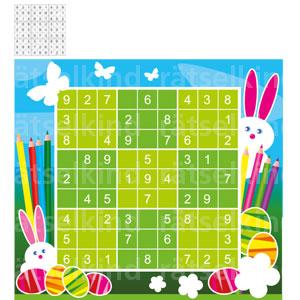 Kannst du das Sudoku mit den Ziffern 1 bis 9 so ausfüllen, dass jede Zahl in jeder Spalte, in jeder Zeile und in jedem kleinen Quadrat nur 1 Mal vorkommt?