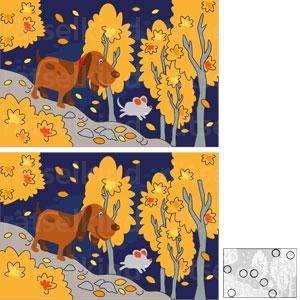 Das obere Bild unterscheidet sich jeweils durch acht Veränderungen von dem Bild darunter. Welche sind es?