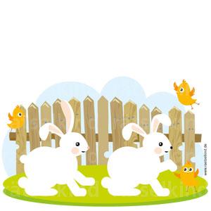 Der linke Hase unterscheidet sich jeweils durch vier Veränderungen von dem rechten Hasen. Welche sind es?