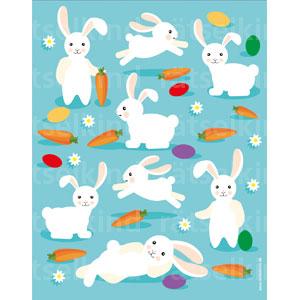 Gibt es für jeden Hasen gleich viele Möhren, Ostereier und Blumen auf der Osterwiese?