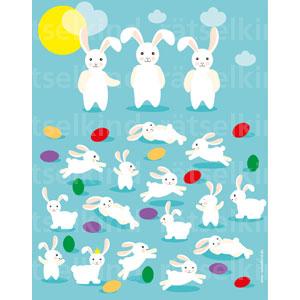 Jede Hasen-Mama hat fünf Junge. Stimmt das? Bekommt jedes Hasenkind ein Osterei? Ein Hasenkind hat Geburtstag kannst du es finden?