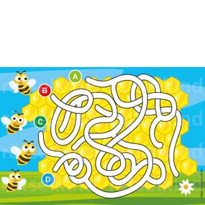 Irrgarten Honigbiene