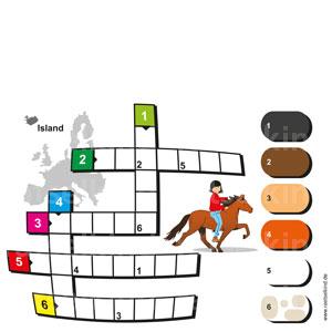 Kreuzworträtsel Islandpferd