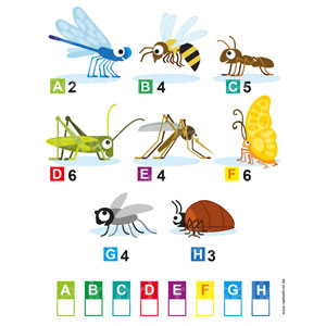 Buchstabenrätsel kleine Tiere