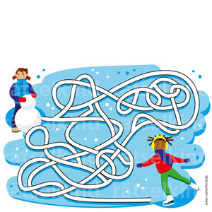 Irrgarten Schlittschuhlaufen