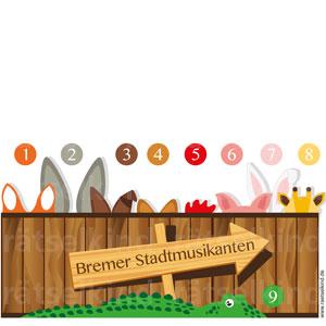 Tierpuzzle Bremer Stadtmusikanten