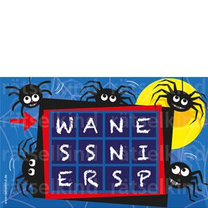 Worträtsel Buchstaben sortieren Spinnen