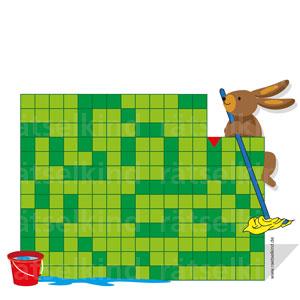 Labyrinth zu Ostern Hasenfamilie