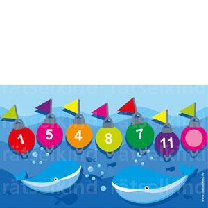 Zahlen kombinieren für Grundschule