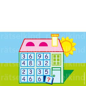 Zahlenhaus eine Zahl finden