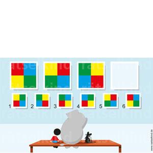Rätsel für Kinder Muster vergleichen