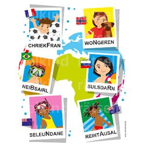 Sortiere die Buchstaben nach Ländernamen
