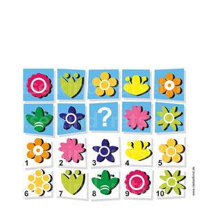 Blütenrätsel Sommerrätsel Gitterrrätsel