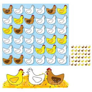 Logikrätsel Landwirtschaft Hühnerrätsel Kinder