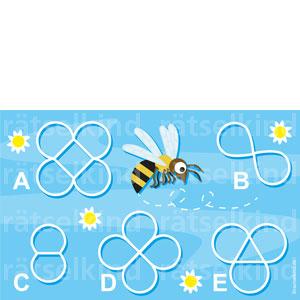 Logikrätsel mit Bienen Bienenflug