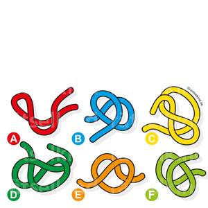 Kinderrätsel mit Knoten Logikrätsel