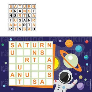 Saturnrätsel Kinderrätsel Sudoku Kinder