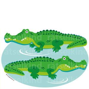 Fehlersuchbild Vergleichsrätsel Krokodile