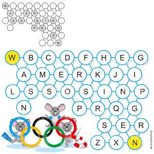 Kinderrätsel Sportart Schwimmsport Olympische Spiele Sommerolympiade