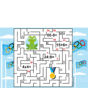 Kinderrätsel Labyrinth Irrgarten Olympische Spiele Olympiade