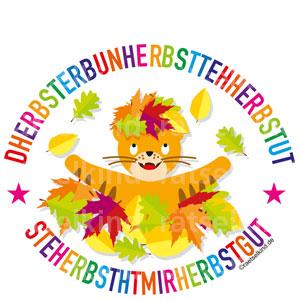 Lustiges Herbsträtsel für Kinder mit bunten Buchstaben