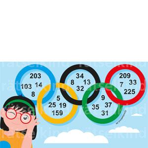 Zahl gesucht in den olympischen Ringen