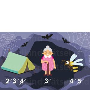 Kinderrätsel zur Halloween Zeit im Oktober Zombie Rebus