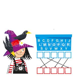 Buchstaben Reihenfolge Hexe Halloween