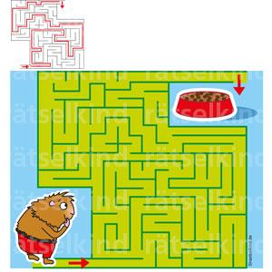 Kinderrätsel Labyrinth