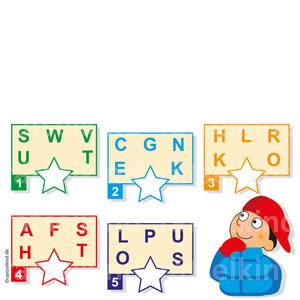 Alphabet Reihenfolge der Buchstaben erkennen. Grundschulkinder