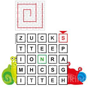 Buchstabengitter mit Lieblingsspeise