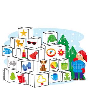Weihnachtsrätsel als Bilderrätsel für Kinder