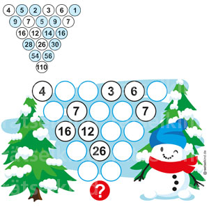 Zahlenmauer Zahlenpyramide Addition