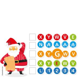 Logikrätsel für Kinder zur Weihnachtszeit