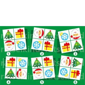 Weihnachtsrätsel für Kinder Vergleichsrätsel Bilder vergleichen