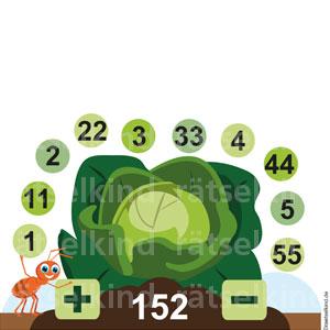 Grundschulrätsel Kohl Landwirtschaft Ernte Zahlenrätsel