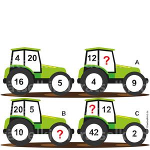 Landwirtschaftsrätsel Agrarrätsel Traktor Logikrätsel
