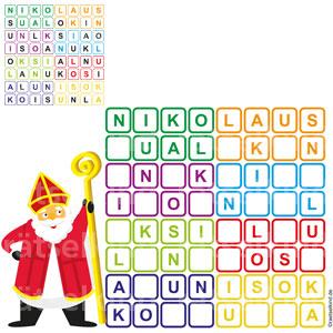 Sudoku Nikolaus Worträtsel