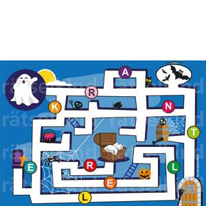Irrgarten Labyrinth Rätsel für Kinder Halloween