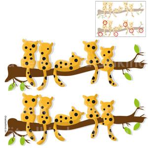 Fehlersuchbild Unterschiede finden Tierrätsel