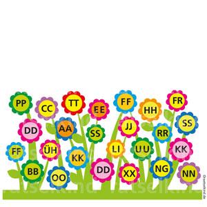 Buchstabenpaare Frühling Kinderrätsel