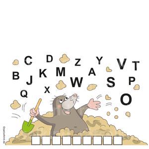 Grundschulrätsel Frühlingsrätsel Alphabet Maulwurf